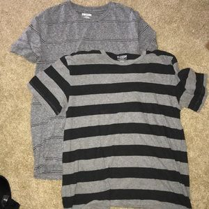 LOT of two medium comfy striped T-shirt's Old navy